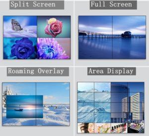 Video wall display effect